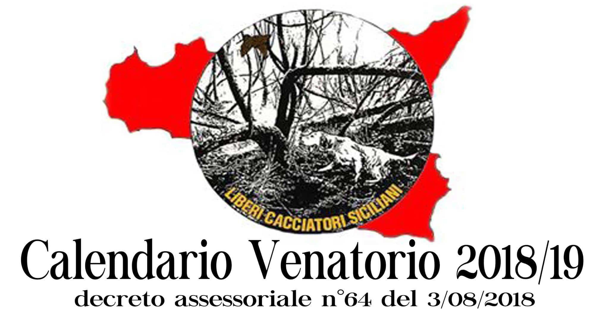Calendario Venatorio Sicilia.Calendario Venatorio Regione Sicilia 2018 19 Liberi
