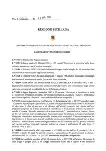 Calendario Venatorio Sicilia 2020.D A N 64 Del 3 Agosto 2018 Calendario Venatorio Liberi